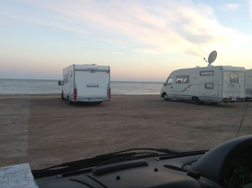 View of the sea from our van in Aguilas (click for larger image)