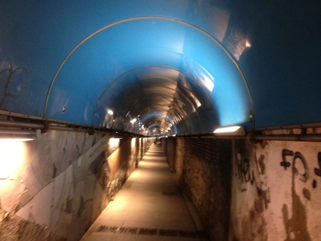 Tunnel from station at Riomaggiore