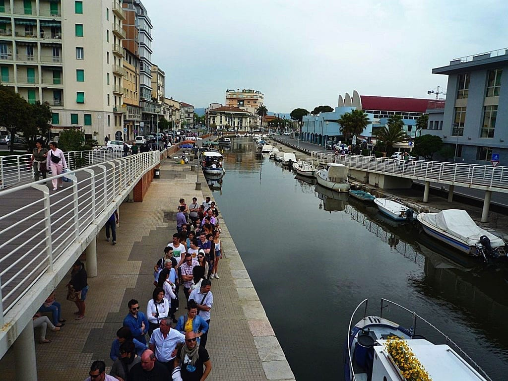 Burlamacca canal, Viareggio,