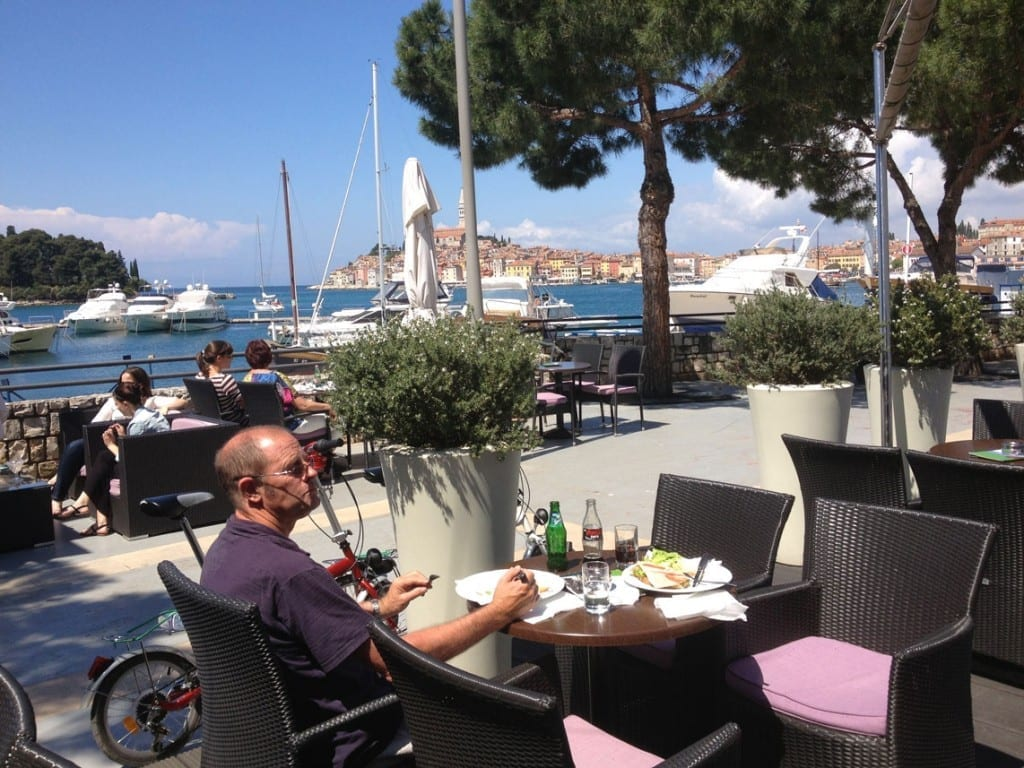 Lunch in the Marina Rovinj