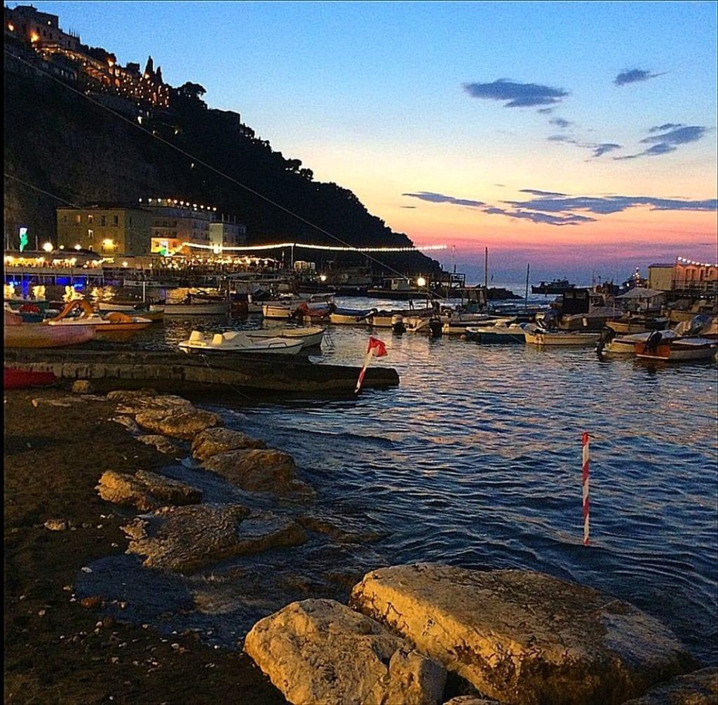 Marina Grande at night, Sorrento, Italy