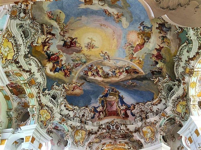 Ceiling of Wieskrch Church