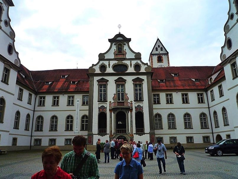 Former Benedictine Monastery. Now partly Fussen Town Hall & exhibition centre Museum for local history.jpeg