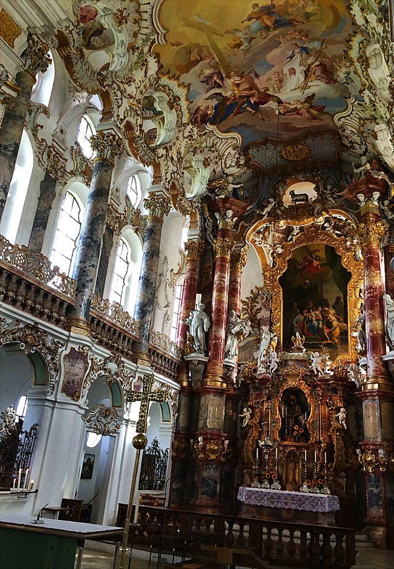 Interior of Wieskrch Church