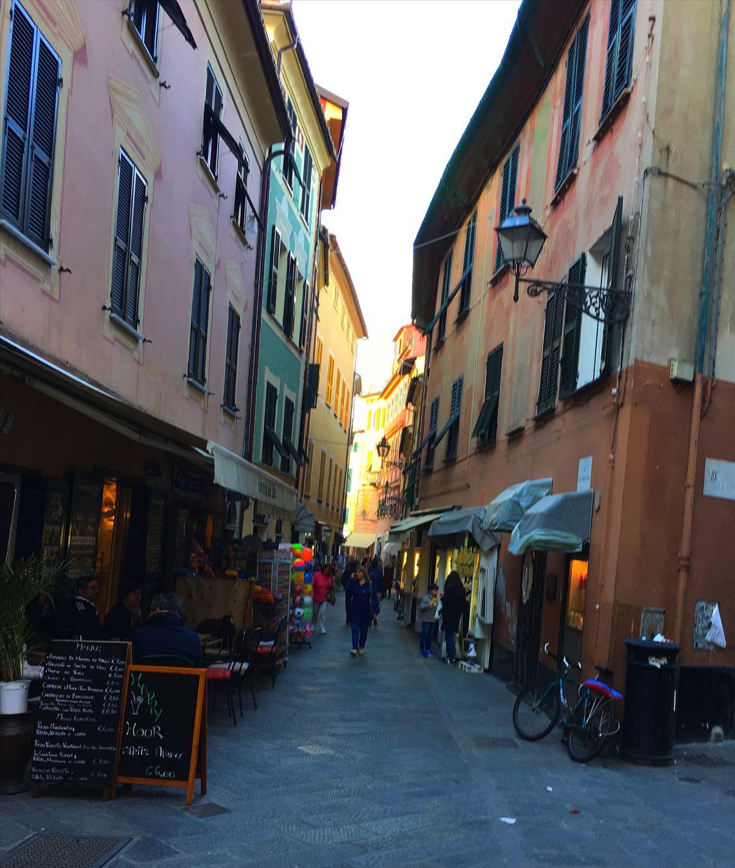 Narrow streets of Sestri Levante