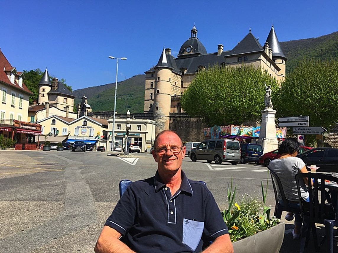 Outside the Chateau in Vizille