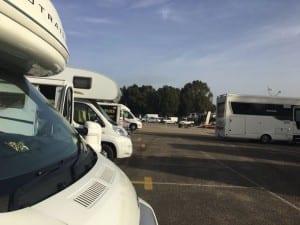 Camper stop Seville Port
