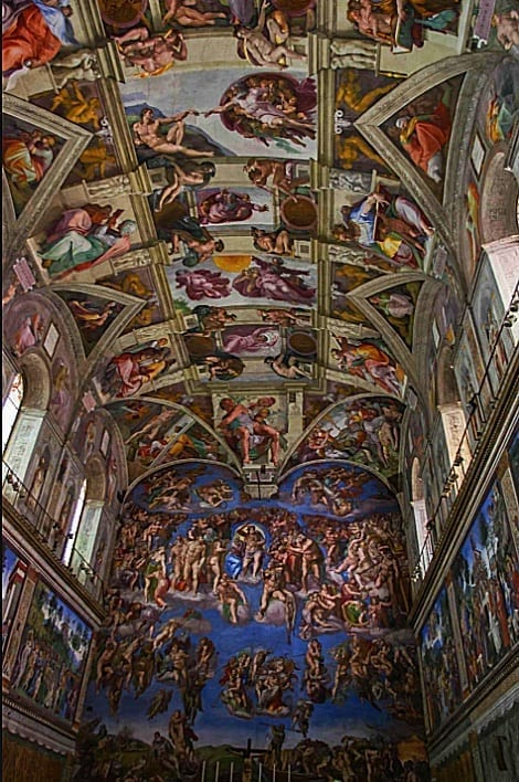 Ceiling & wall paintings St George Church