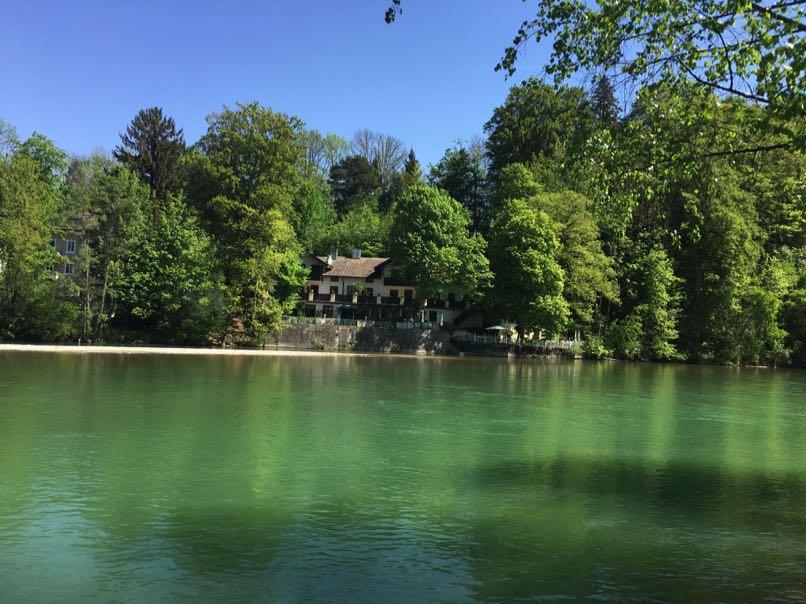 River at Bad Tolz, Bavaria, Germany