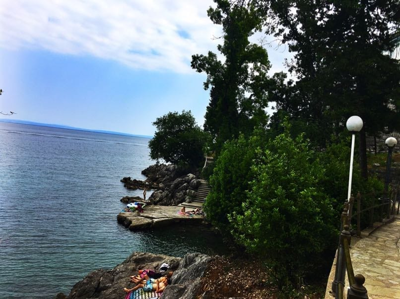 On the Lungomare walk, Croatia