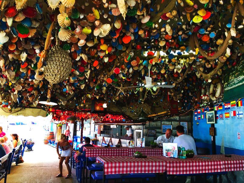 Shells on Restaurant ceiling, Lovran
