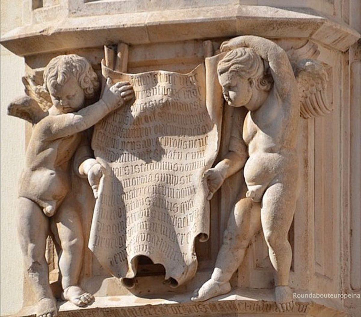 Sibenik wall sculptures