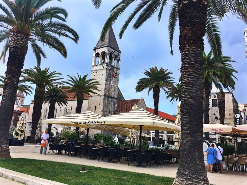 Trogir waterfront area