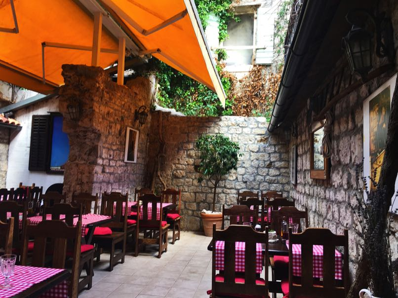Trogir Restaurant set in ruins