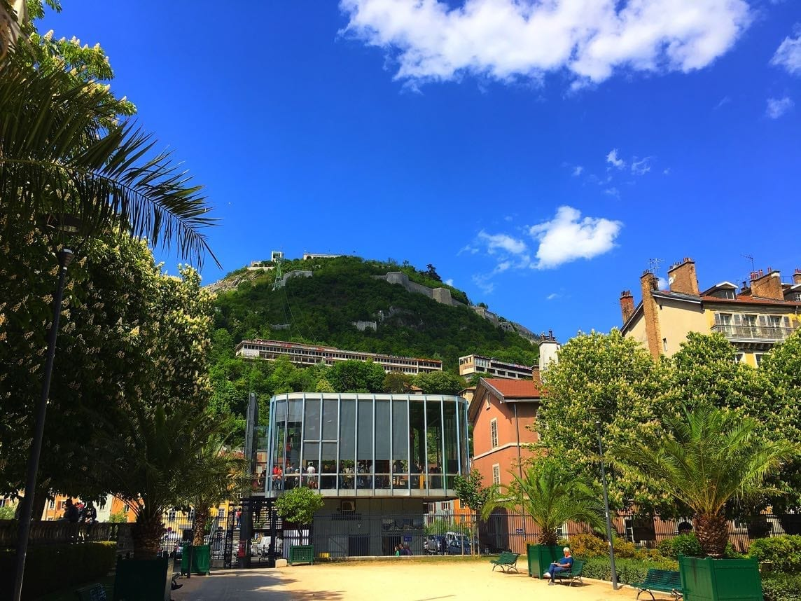 Grenoble cable car station