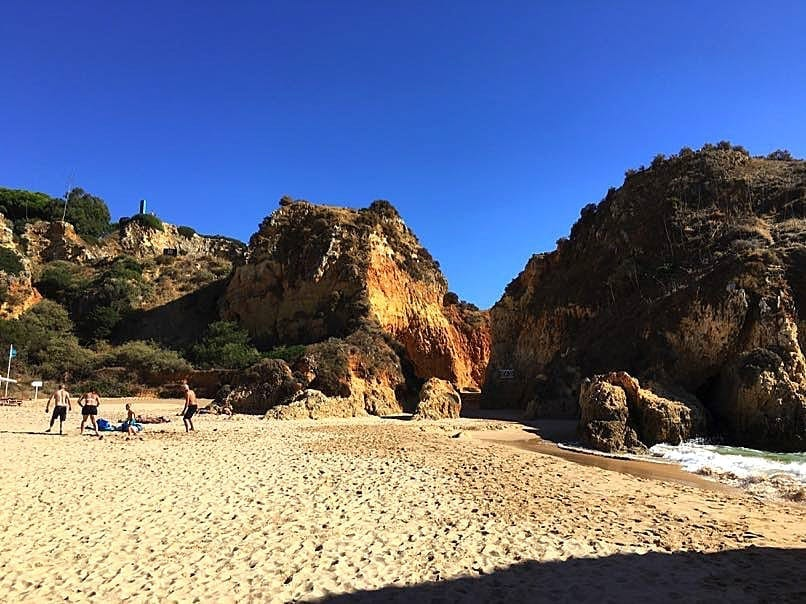 Alvor Beach & caves