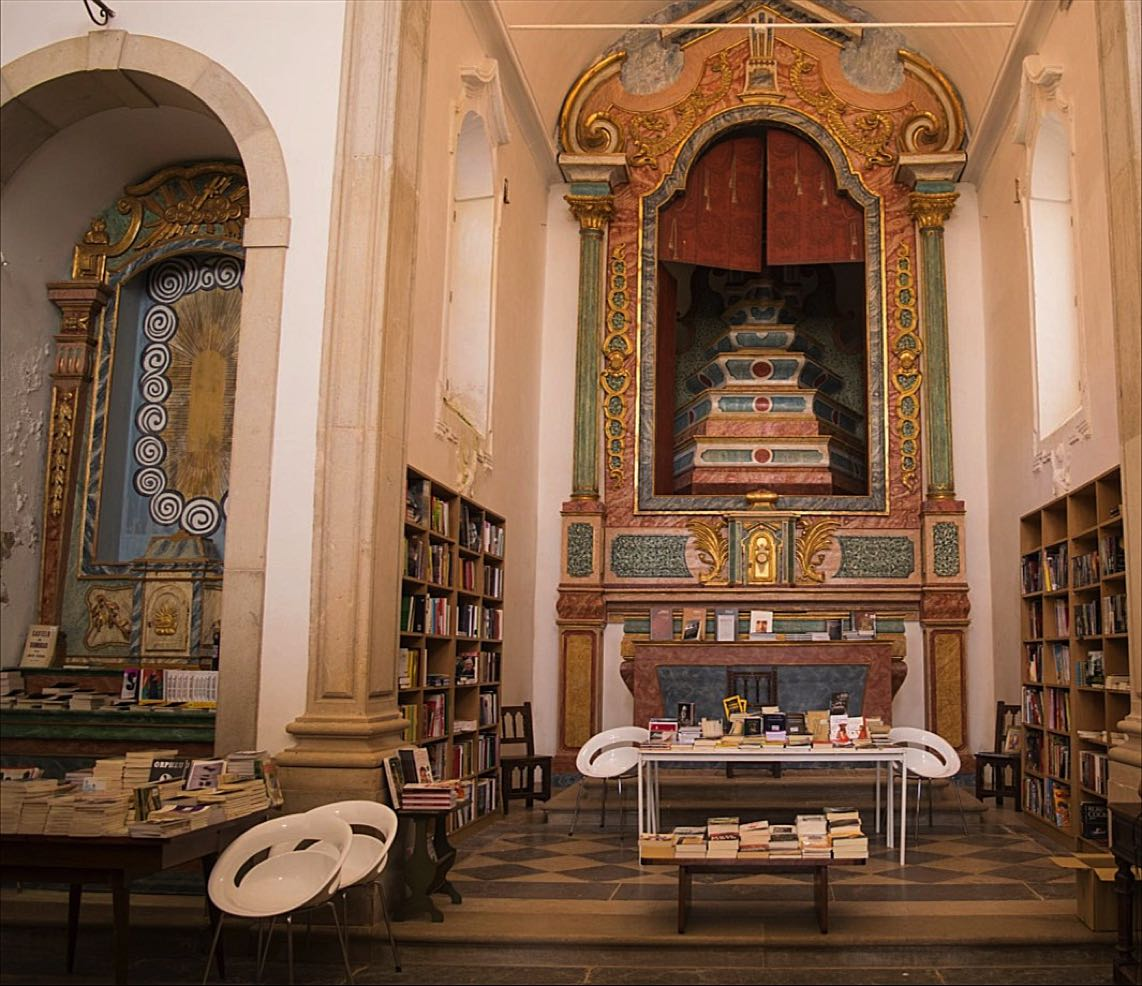 St James Church bookshop, Obidos